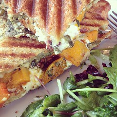 Butternut Squash (morgan.claire) Tags: cheese wisconsin goat sandwich sage foodporn bakery milwaukee squash april grilled pesto butternut in 2013 rocketbaby wauwautosa