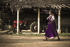 Nemam (Kals Pics) Tags: life morning light shadow people woman india tractor canon walking walk culture streetphotography machinery granny saree lightandshadow tamilnadu morningwalk villagepeople cwc villagelife rurallife ruralindia lightandlife indianvillages 550d nemam thiruvallur tiruvallur ruralpeople kalspics 18135mmis culturalindia chennaiweelendclickers