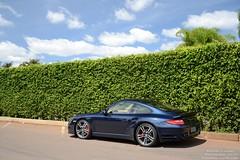 Porsche 911 Turbo (Raphael Valença) Tags: blue brazil cars azul brasil slick nikon tech body wheels 911 turbo porsche gt coupe brasilia exotics mkii 997 pdk exclusivos d3100