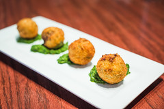 Potato & Lamb Croquettes - Queen Vic Pub & Kitchen (Michael Shum) Tags: food restaurant british pubs starters tearooms zeissmakroplanart250zf2 queenvicpubkitchen