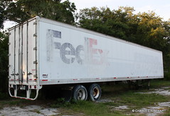 Old Abandoned FedEx Trailer In Sarasota (rinehart-video-productions) Tags: abandoned florida sarasota trailer shipping fedex federalexpress