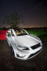 Seat Leon FR ([Nocturne]) Tags: new longexposure nightphotography light sky white lightpainting tree cars car night canon stars photo lowlight exposure seat low headlights leon fr nocturne stance seatleon drl lpp noctography 5dmkii lightpaintingphotography wwwnoctographycouk