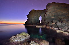 El Arco del Rey [EXPLORE] (Javier_Lpez) Tags: sky espaa rock azul night del marina stars star spain nikon long exposure dramatic sigma paisaje murcia amanecer le rey nocturna javier angular 1020 arco nocturne rocas larga elx elche exposicin lpez cabopalos d7000 calaflores javierlpez arcodelrey
