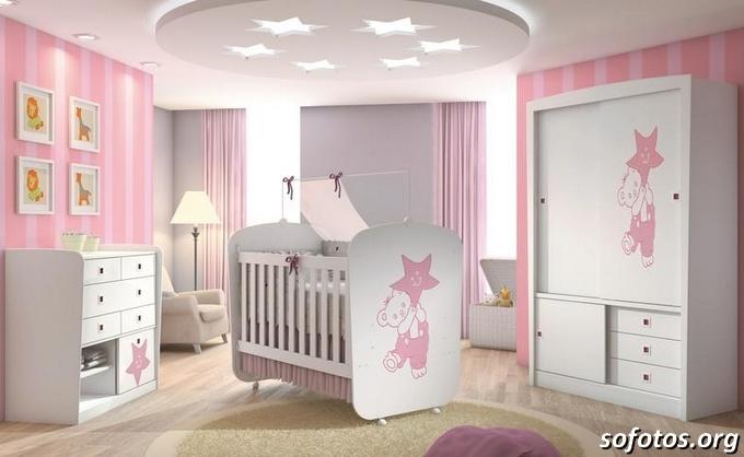 quarto de bebe rosa para menina