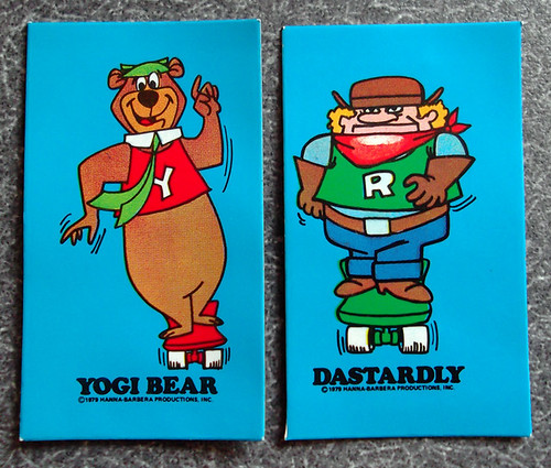 1979 Ralston Cookie-Crisp Cereal Box Premium Laff-A-Lympics Yogi Bear Dastardly Magnets