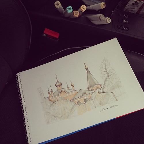 В Подольске #sketch #copic ©  alubavin