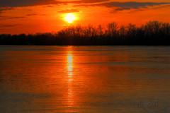 Sinking (pixelcraftstudio) Tags: sunset orange ontario canada colour river glow vibrant ottawa hdr