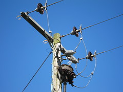 Feed Me (Lady Wulfrun) Tags: electric grid power national wires electricity feed telegraphpole overhead distribution supply insulators