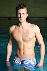 Swimwear // 3 (Paul Strowger) Tags: uk portrait man male pool fashion swimming swim paul photography suffolk photographer norfolk wear east portraiture mens norwich editorial shorts trunks swimwear anglia lightroom strowger 2013