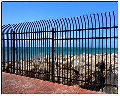 Southernmost Fence (Timothy Valentine) Tags: vacation fence florida large tourist keywest friday southernmost 0413
