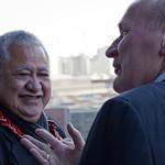 Premierminister von Samoa und Dr. Westphalen