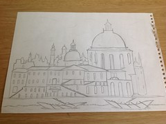 Pencil drawing of a palace (RainbowPaint1000) Tags: art sketch palace pencildrawing
