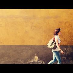 Going out for a smoke (Francesco Agresti  www.francescoagresti.com) Tags: life street travel people color fuji streetphotography streetlife tuscany fujifilm streetphoto siena toscana viaggio x10 francescoagresti fujix10 s8un3no frankies8un3no francescoagresticom