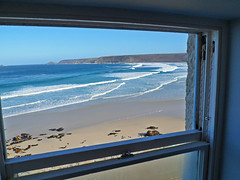 View from Old Success Room, Sennen (sipper666) Tags: sea beach coast sand cornwall surf waves bluesky seafront cornish sennen westpenwith westcornwall oldsuccess