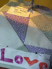 Prayer Flag (Amanda Jolley) Tags: quilt flag prayer sewn