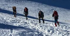 Argentire, corde au dpart de l'aiguille Verte (Ytierny) Tags: france horizontal montagne altitude glacier neige chamonix ville ascension montblanc verte escalade massif randonne hautesavoie sommet valle aiguille grandsmontets argentire corde alpesdunord ytierny