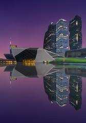 Guangzhou opera & Purple Sky (Lus Henrique Boucault) Tags: architecture asia building center china clear guangzhou longexposure modern nightlights opera reflections sunrise sunset guangzhoushi guangdongsheng cn