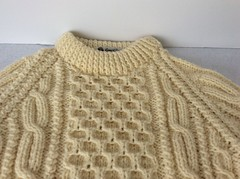 Aran wool sweater (Mytwist) Tags: holde979 carrick fin vintage irish cream thick cable knit wool sweater aranstyle aran crewneck crew neck style handgestrickt laine fashion bulky jumper jersey pullover
