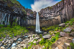 Svartifoss @Skaftafell (Benjamin MOUROT) Tags: iceland islande north northernlight viking canon 70d longexposure nisifilter polarised lightroom6 photoshopcs3 1022mm landscape paysage poselongue europe 2016 july cascade cascada waterfall eau fluide chute svartifoss foss fossen skaftafell stream