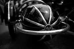Steib sidecar, on BMW motorcycle (David A. Barnes) Tags: germansidecar inexplore leica leicam240 summiluxm35mmasphfle steib steibsidecar motorcycle bmw bokeh blackandwhite monochrome tourdelegance carmel carmelbythesea california