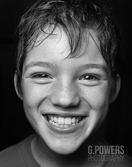 Cheese! (G.Powers Photography) Tags: ndfilter blackandwhite headshot portraitphotography strobes nikond4 gpowersphotography washington portraits nikon lighting smile kids nikon247028 pacificnorthwest happy kidsportraits