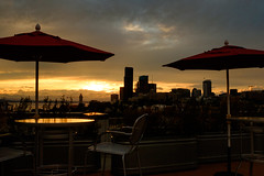 Sunset view from the roof patio. Seattle, WA. August 2016. (poopoorama) Tags: dannyngan dannynganphotography fujifilm seattle xseries x100t clouds sky summer sunset washington unitedstates