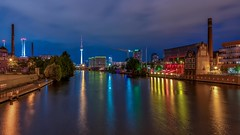 visit Berlin (Klaus Mokosch) Tags: berlin spree nachtaufnahme nacht night nightshot klausmokosch hdr urban city cityscape bluehour blauestunde longexposure langzeitbelichtung spiegelung reflection travel reise germany wow
