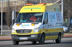 Servicio Aragons de Salud (bleulights) Tags: servicio aragons de salud u325 mercedes sprinter ambulncia ambulancia ambulanza ambulance ambulanz rettungswagen emergncies mdiques medical emergencies emergencias mdicas urgences mdicales suport vital bsic basic life support base soporte bsico samu