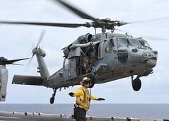160815-N-YR245-077 (Commander, U.S. 7th Fleet) Tags: boxarg13meu16 ussboxerlhd4 amphibiousreadinessgroup 13thmarineexpeditionaryunit 13thmeu usmarines usnavy cpr1 flightoperations mh60sseahawk us7thfleet celebessea