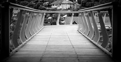 Follow The Lines (Adam Court) Tags: art clouds bridge noiretblanc bw wales abstract black white harlech castle sony a6000 helios 442