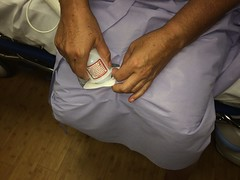 Woman Thigh Surgery Spectrum Hospital Bair Paws Warming Gowns  9-12-16 (stevendepolo) Tags: woman thigh surgery spectrum hospital bair paws warming gowns caroline