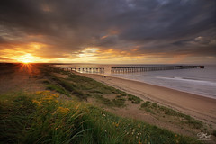 Steetley sundown (Steve Clasper) Tags: steetleypier northeast steveclasper northern north uk coast coastal beach pier hartlepool steetley sunset sundown