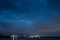 20160823_3677_7D2-24 Looking up the Brisbane River from near the Port of Brisbane (236/366) (johnstewartnz) Tags: apsc canon canonapsc eos 7d2 7dmarkii 1740mm 1740 nighttime timeexposure brisbane brisbaneriver onephotoaday onephotoaday2016 project366 366the2016edition 3662016 day236366 23aug16