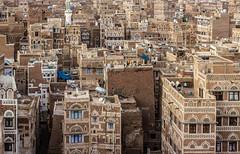 Why is the whole world silent about Yemen? (kingamesaros) Tags: sanaa yemen city architecture unescoworldheritage unesco arabia building house ancient cityscape landmark gold golden