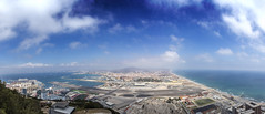 Gibraltar (larsditlevpedersen) Tags: gibraltar view overview sky horizon rock outpost blue city border airstrip spain tourism southern colony