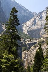 Distant View of the Falls (isaac.borrego) Tags: uploadedviaflickrqcom waterfall falls mountains yosemitefalls sierranevada yosemite nationalpark california canonrebelt4i