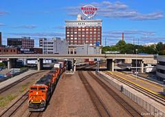 "Westbound Intermodal in Kansas City, MO (""Righteous"" Grant G.) Tags: bnsf railroad railway train trains kansas city missouri west westbound intermodal locomotive"