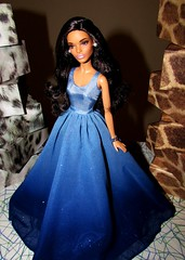 African night (Nickolas Hananniah) Tags: holidaybarbie2016 barbiedoll claudetteface caludette africandoll blackdoll balckbarbie gown bluegown elegant modelmuse simple chirstmas hope