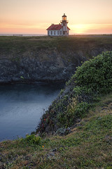 This world is but a canvas to our imagination (ferpectshotz) Tags: pointcabrillo lighthouse northerncalifornia mendocinocoast fort bragg sunset california cliffs marinelayer