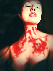 The end of the war. 5.879 days. (heidyLean) Tags: war scar dontthink dontcry dontsleep dontwrite reddays song septembersun selfportrait 2000 end blood