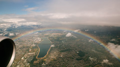 It May Be Raining (melfoody) Tags: cheesyeaglestitle aerial airplane windowseat altitude rainbow england london explore explored