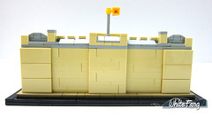 Back view of the Buckingham Palace (WhiteFang (Eurobricks)) Tags: lego architecture set landmark country buckingham palace victoria elizabeth royal royalty family crown jewel imperial statue tourist united kingdom uk micro bus taxi