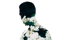 (Steven Javon) Tags: portrait dramatic 6d double exposure flowers flower personal dark boy man glare photographer artist mysterious photoshop