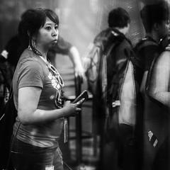 Comic Con 2016-117 (rmc sutton) Tags: crowd comiccon indoors blackandwhite bw monochrome blur