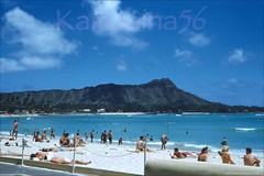 Royal Beach Diamond Head 1956 (Kamaaina56) Tags: 1950s waikiki hawaii beach royalhawaiian slide