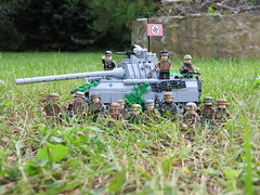 Thanks the 100 followers! -Somewhere in Normandy- (Forestmn) Tags: 100 follower lego ww2 wwii painted custom tank panzer panther