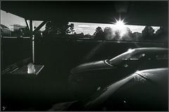 'First Light' (wallygawr) Tags: 50mmf14 berkshire nikonf2photomic panf carport film office starburst underexposed yard