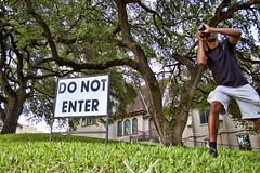 Sign says... (behr.scott) Tags: getoffmylawn adjust topaz signs churches texasoutdoors centraltexas waco canon50d canon wwpw2016