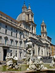 Fontana del Moro - Piazza Navona - Rome - July 2016 e1 (litlesam1) Tags: italy rome soloromejuly2016 july2016 fountains