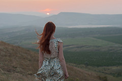 Sunset in Crimea (  ) (Aleksei Zadonskii) Tags:                   russia photo nikon d90 nikond90 50 crimea woman girl wife sunset evening travel travelling fog mist nature landscape mountain mountains hillhills valley